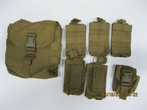 t3 Coyote Pouch Set 7pc #4 ** READ FOR CONTENTS