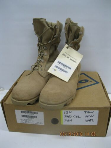 WELCO Hot Weather Boots 13N Type II Tan Panama Lug Sole * Hot / Dry