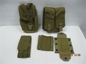 EAGLE 3 Pouch Set 1QT Canteen/ SAW / Single Dbl Mag Pouch * Green Label