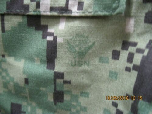USN NWU Type III Large Short Blouse * Same as AOR2 W/ NAVY A.C.E.