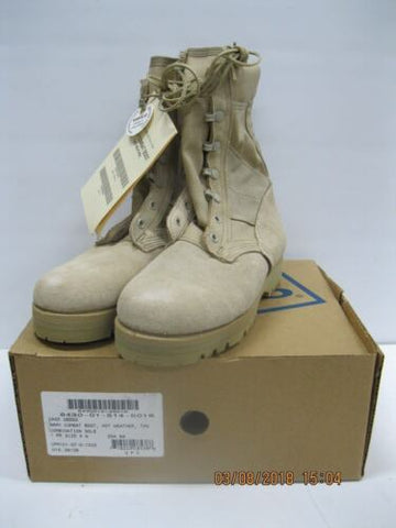 USGI WELCO Army Combat Boot , Hot Weather , Tan , Combo Sole 4W