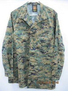 USMC Maternity Woodland MARPAT Blouse Med Long