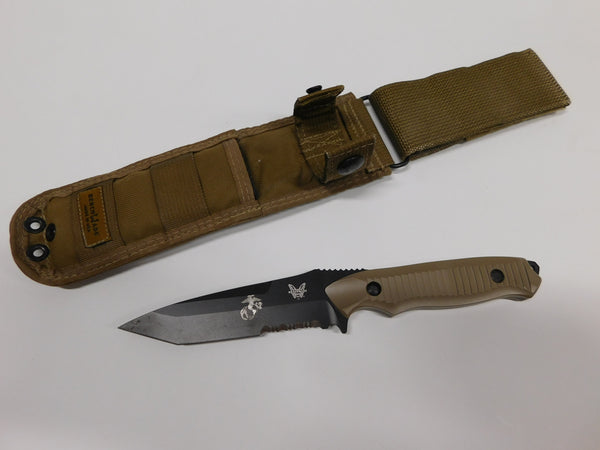 BENCHMADE NIMRAVUS With USMC EGA & Sheath Coyote