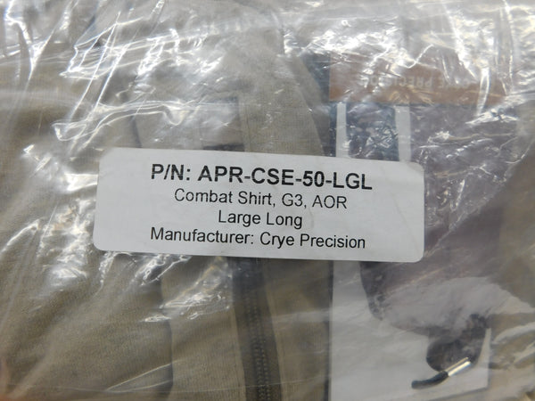 Crye G3 AOR1 Combat Shirt Large Long APR-CSE-50-LGL