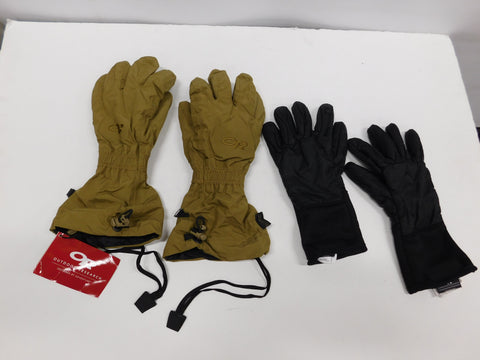 OR Firebrand Gloves sz Small WITH Liners Coyote * NWT