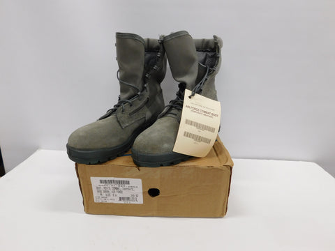 USAF Welco Mens Combat Boots 6W Temperate Sage Green * NEW OTHER