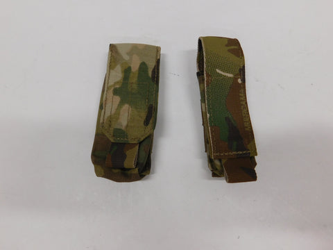 t3 Gear 2qty Multicam Pouches * Pistol Mag & Flashlight/ Multi-tool * NWOT