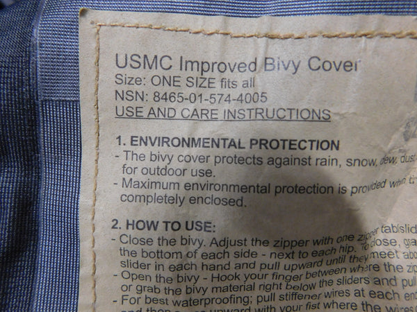 USMC 3S Improved Bivy Coyote * NEW OTHER