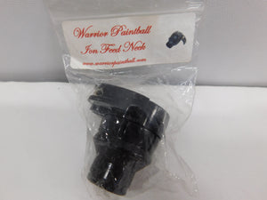 Warrior Paintball ION Feed Neck Black * NIP NOS