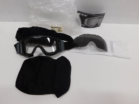 ESS Profile NVG Black Goggles W/ Clear & Smoke Lens