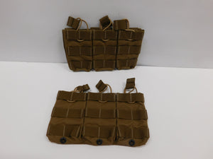 Eagle Allied 2qty Triple Mag Pouch Shingle Bungee Retention * Sterile * MOLLE