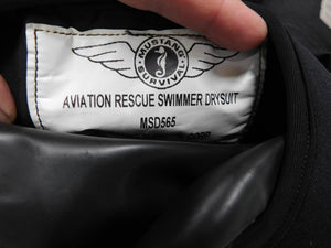 Mustang Survival Aviation Rescue Swimmers Drysuit MSD565 sz Lg **READ