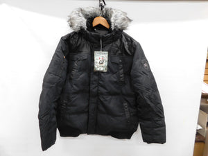 Point Zero DOWN Parka sz XL Black * -20 Degree * NWT