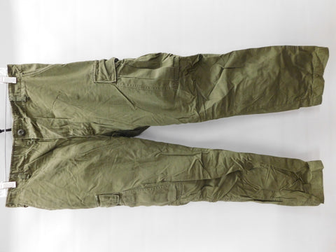 VINTAGE Mans Cotton Wind Resistant Rip Stop Poplin Trousers SmReg * RARE 7th POCKET 1969