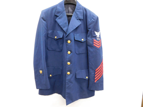 "Vintage US Coast Guard Master CPO of the USCG Dress Jacket sz 42"" - 44""  * OSS"