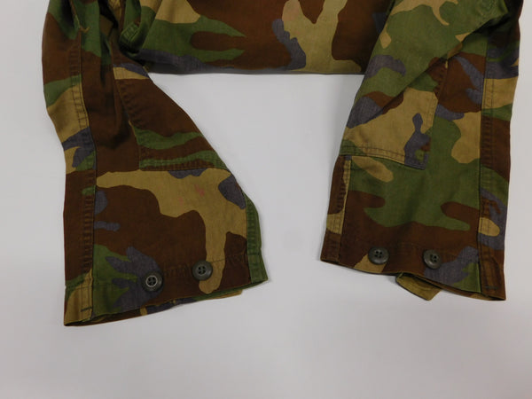 USMC Woodland Camo Combat Coat MR * 1989 * Iron On Stencyl  * 50/50 NyCo