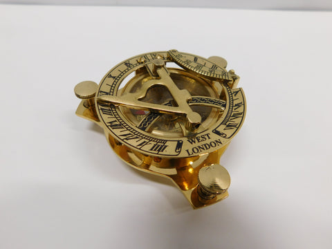 Decorative brass sundial / compass maritime pocket device