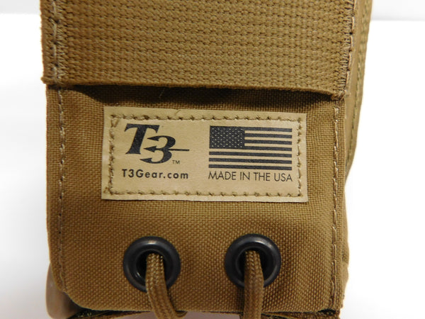 t3 Gear Adjustable MBITR Pouch Coyote    *MADE IN USA