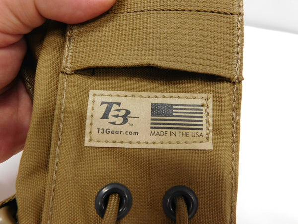 t3 Adjustable PRC 152 Pouch Coyote   *MADE IN USA