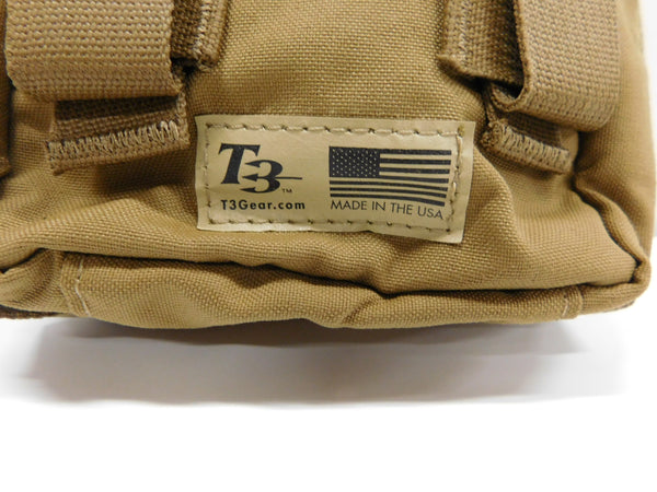 t3 Gear Standard Medical Pouch Coyote       *MADE IN USA
