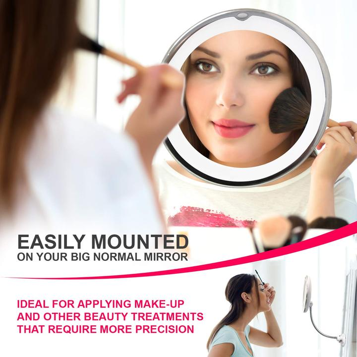 Flexible Light Up Mirror 10X/5X Magnification Makeup Mirror