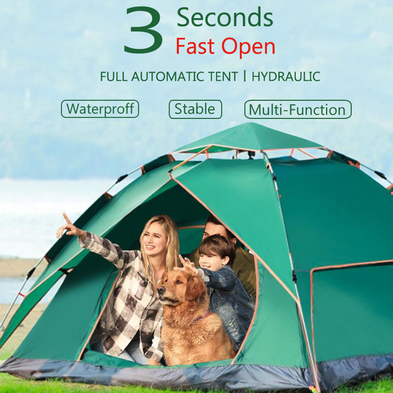 New hydraulic Technology  Automatic Tent   Three Seconds Fast Open  Double Layer Tent