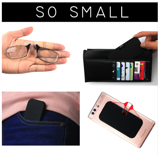 Clip Nose Mini Reading Glasses for women Optical Glasses for men With Box Wallet Prescription Eyeglasses