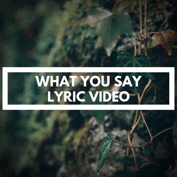 WHAT YOU SAY - LYRIC VIDEO