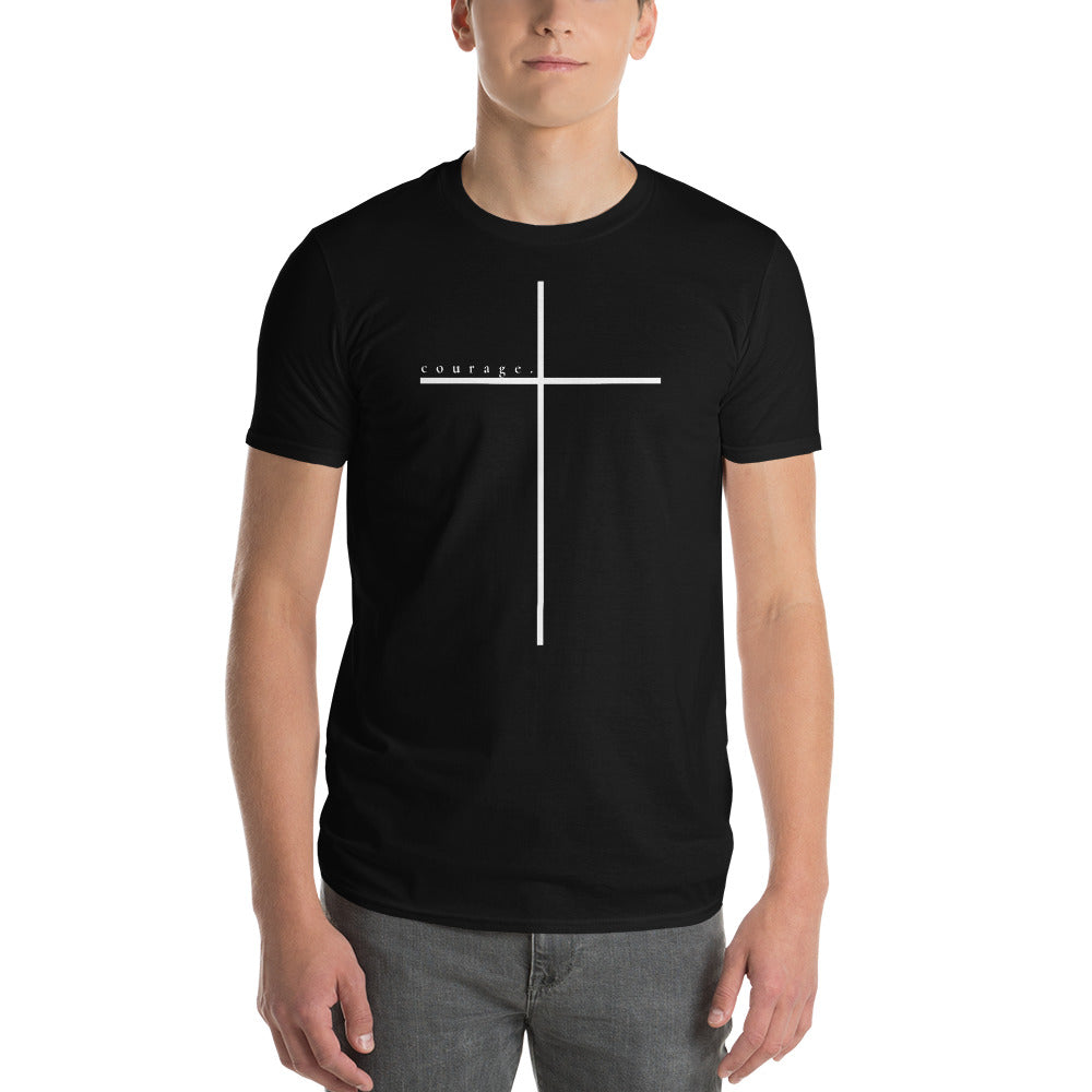 COURAGE CROSS Black Short-Sleeve T-Shirt