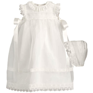 Long Lace Christening Gown