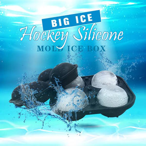 Big Ice Hockey Silicone Mold Ice Box