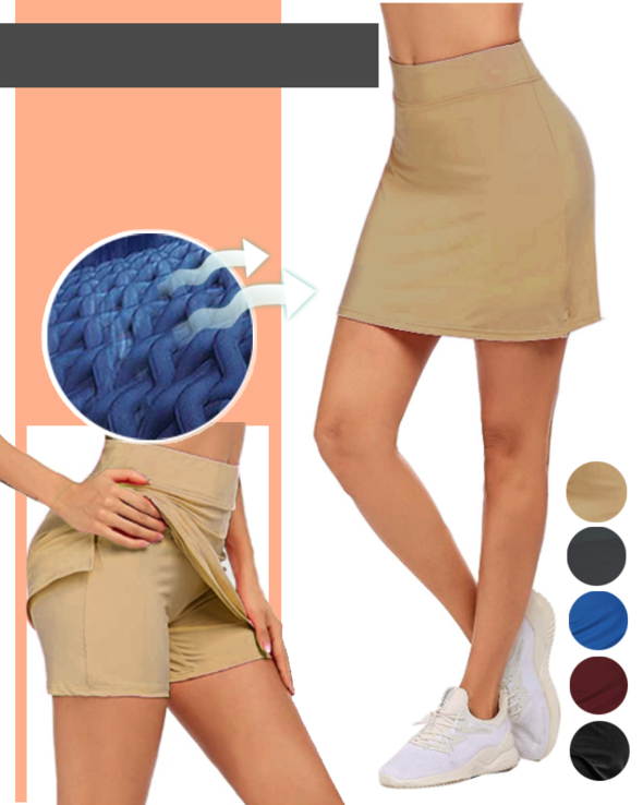 Anti-Chafing Double-Layer Skort