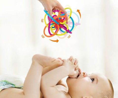 Winkel Rattle & Sensory Teether Toy