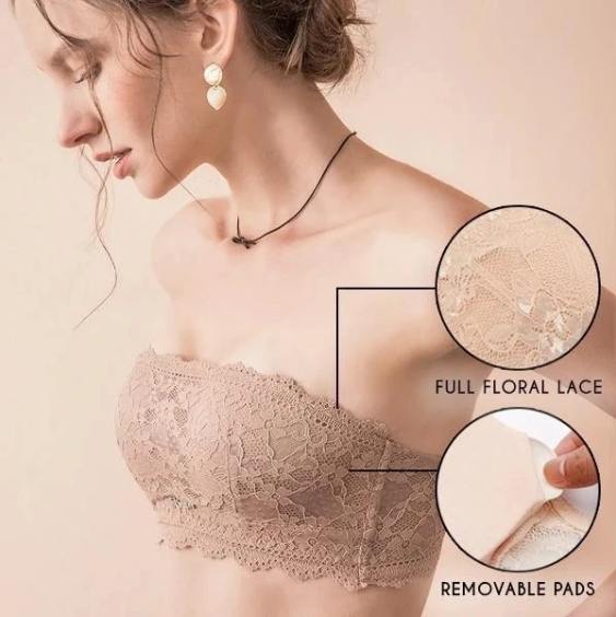 Summer Beauty-Women Seamless Lace Strapless Bras