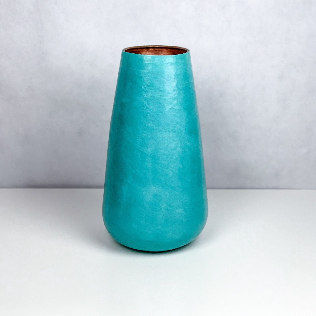 Mayo Copper Vase Oxide Green