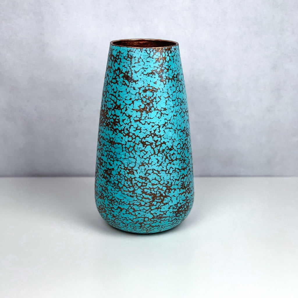 Mayo Copper Vase Scraped Oxide