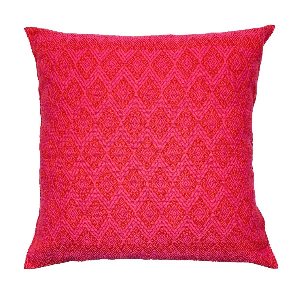 Pink Brocade Cushion