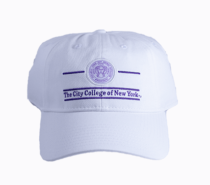 The City College White Hat with Seal