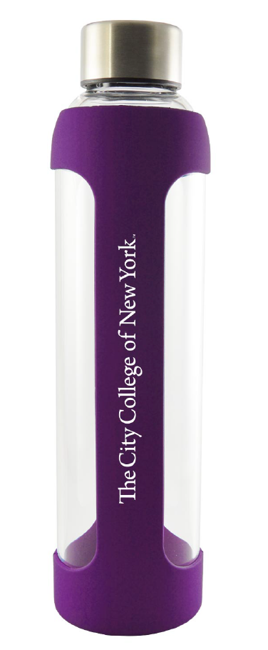 CCNY Silicone & Glass 20oz Water Bottle