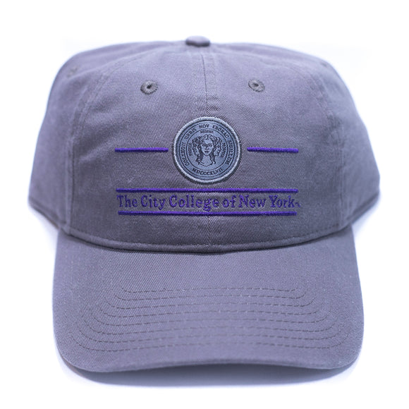 The City College Charcoal Hat with Seal