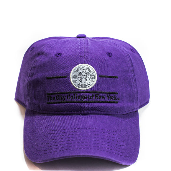 The City College Purple Hat with Seal