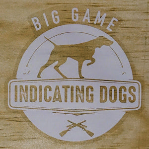 Big Game Indicating Dogs Stamp Supporters Stickers