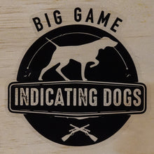 Load image into Gallery viewer, Big Game Indicating Dogs Stamp Supporters Stickers