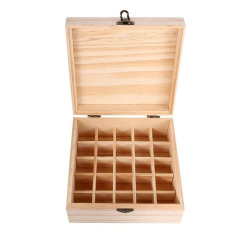 25 Slot Wooden Essential Oil Box