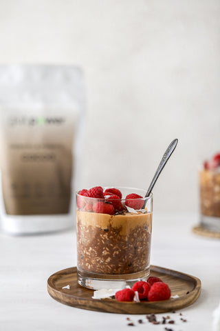 gut power chocolate overnight oats