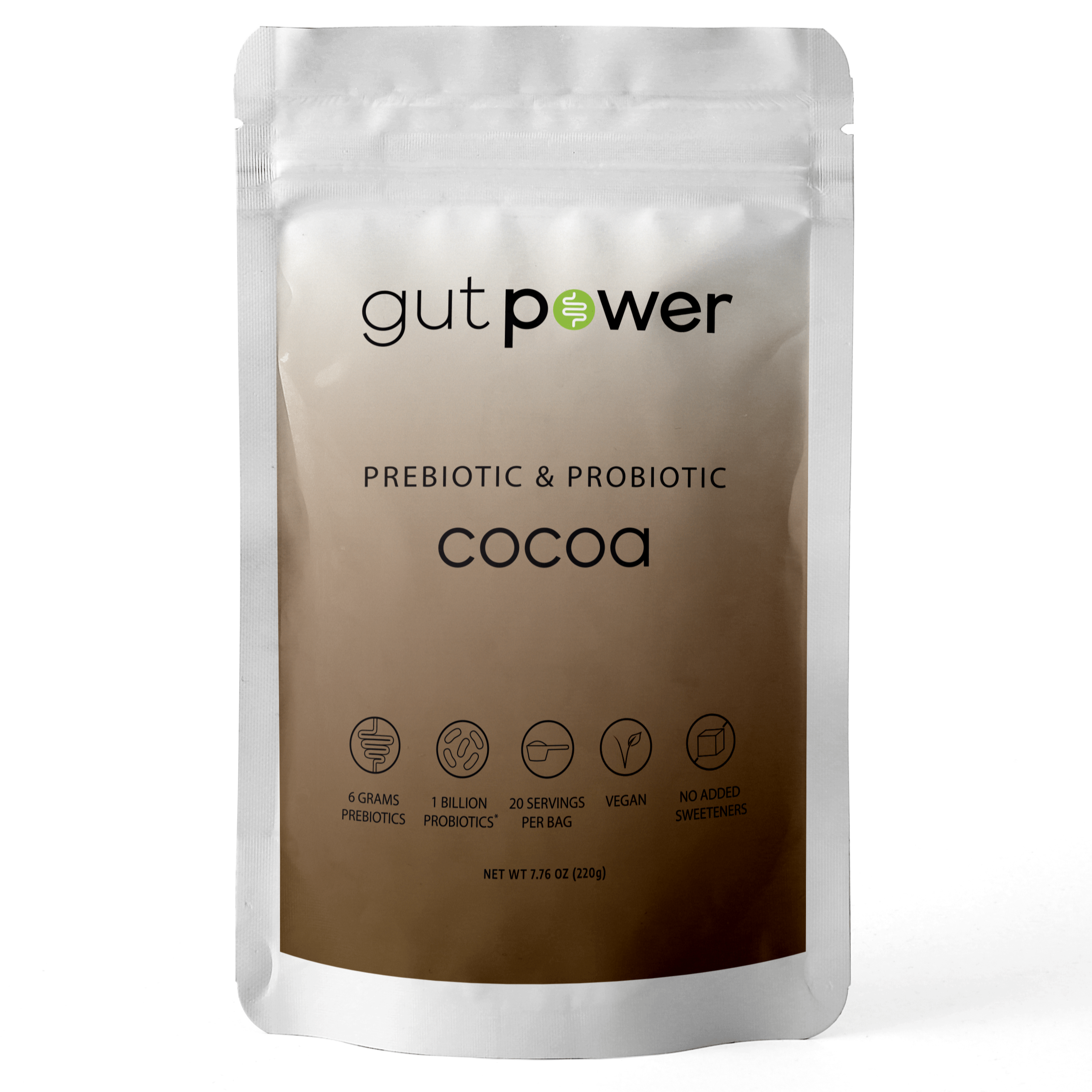 Gut Power Cocoa — Prebiotic and Probiotic Gut Health Drink Mix