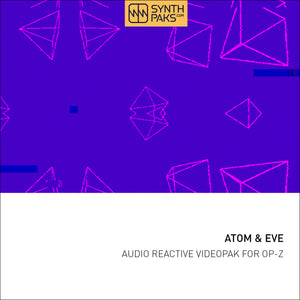 Atom & Eve Videopak Demo + Living Beats Project Demo (Free) - Synthpaks | OP-Z | Teenage Engineering