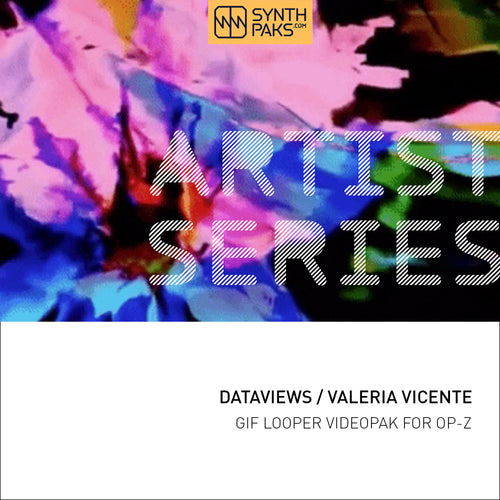 Dataviews - Artist Series - Valeria Vicente L. - OP-Z App Videopak - Synthpaks | OP-Z | Teenage Engineering