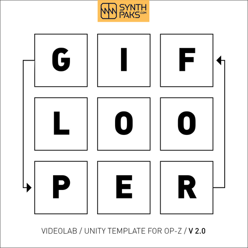 GIF Looper Template Project BETA - 2.0 - Synthpaks | OP-Z | Teenage Engineering