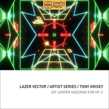 Load image into Gallery viewer, Lazer Vector - Artist Series - Tony Grisey - OP-Z App Videopak - Synthpaks | OP-Z | Teenage Engineering